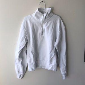 Brandy Melville half zip sweater